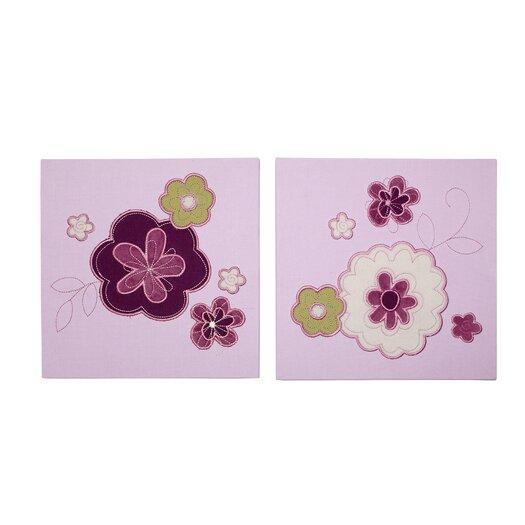 NoJo Pretty in Purple 2 Piece Canvas Art Set