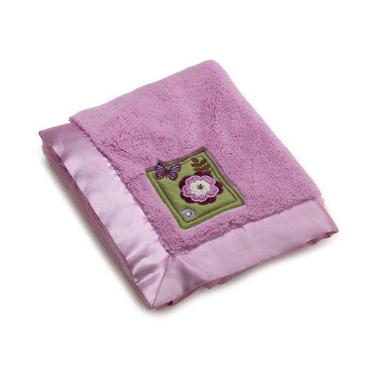 NoJo Emily Appliqued Coral Fleece Blanket