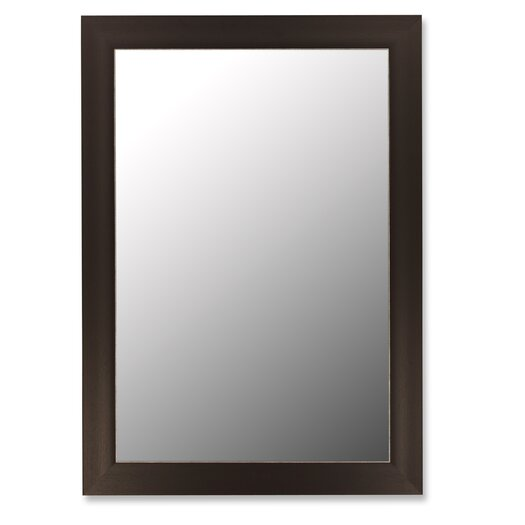 Hitchcock Butterfield Company Espresso & Silver Accent Framed Wall Mirror