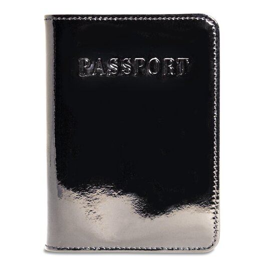 Jack Georges Patent Leather Passport Cover