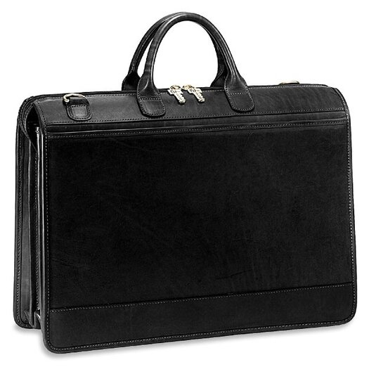 Jack Georges Triple Gusset Leather Briefcase