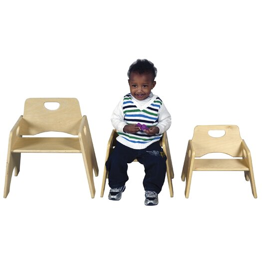 "ECR4kids 8"" Hardwood Classroom Toddler Chair"