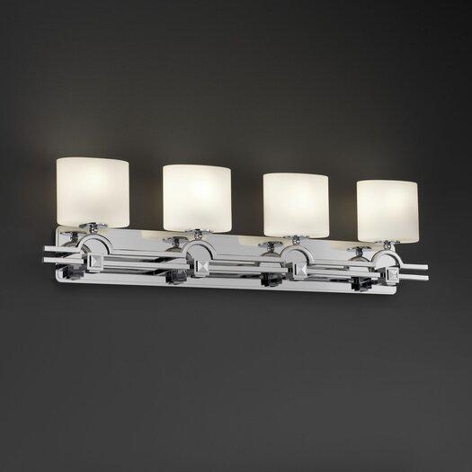 Justice Design Group Fusion Argyle 4 Light Bath Vanity Light