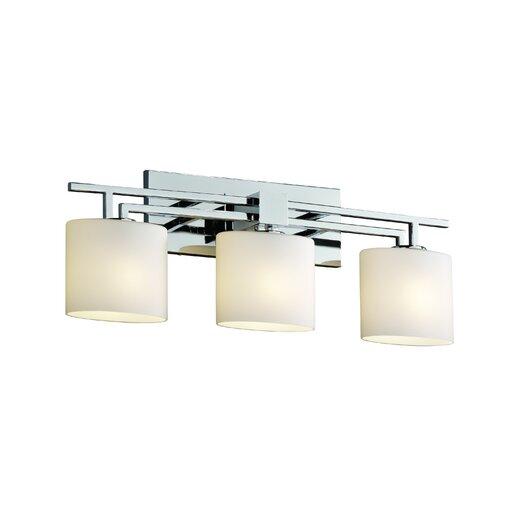 Justice Design Group Fusion Aero 3 Light Bath Vanity Light