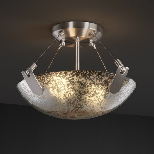 Justice Design Group Fusion 2 Light Semi Flush Bowl