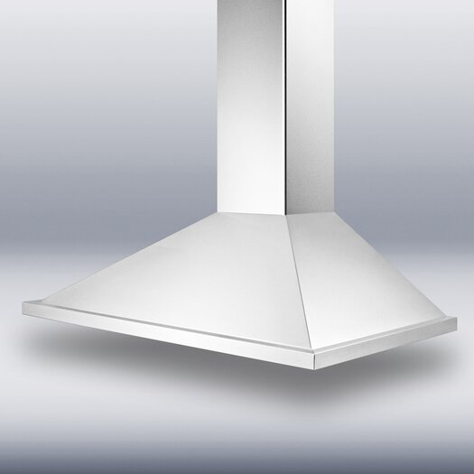 "Summit Appliance 35.38"" 500 CFM  European Style Wall Mount Range Hood"