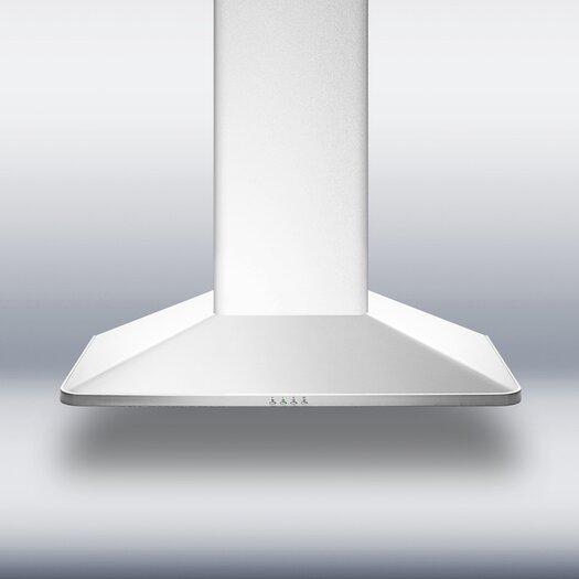 "Summit Appliance 35.38"" 650 CFM  European Style Wall Mount Range Hood"