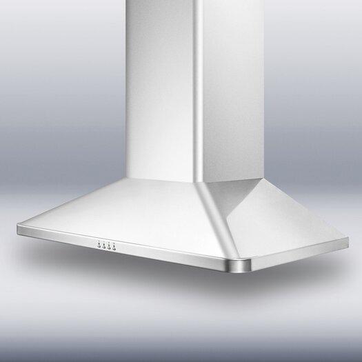 "Summit Appliance 36"" 650 CFM  European Style Wall Mount Range Hood"