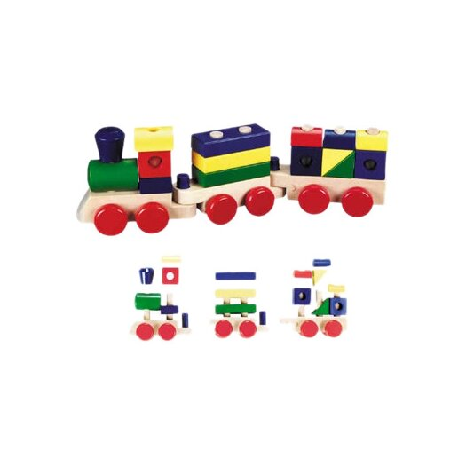 Melissa and Doug 15 Piece Stacking Train Toy Set