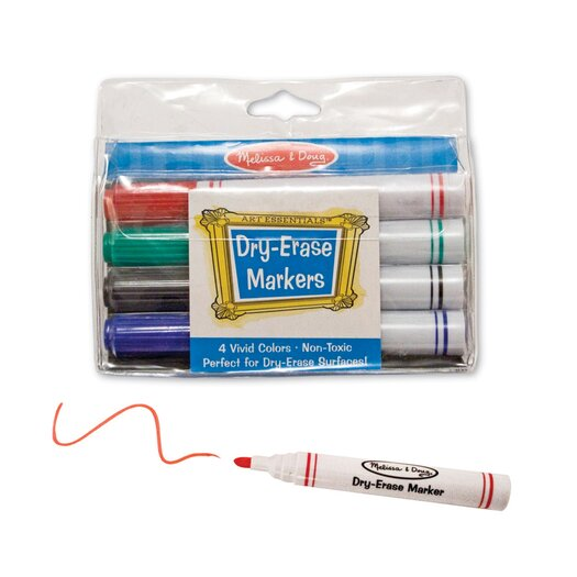 Melissa and Doug Dry Erase Marker Set (4 pc)