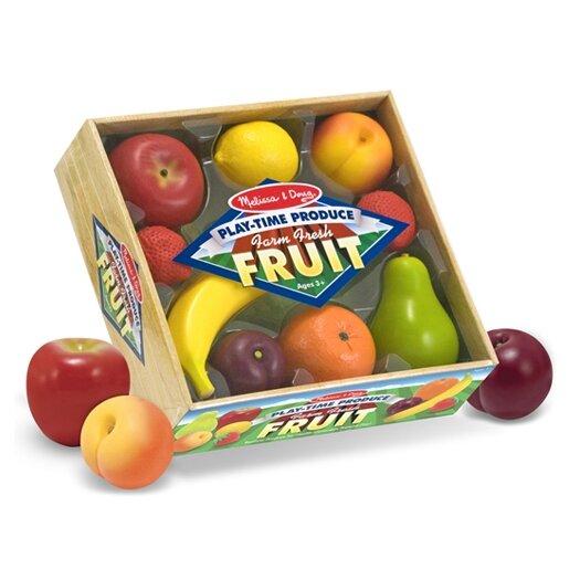Melissa and Doug 8 Piece Play-Time Fruit Set