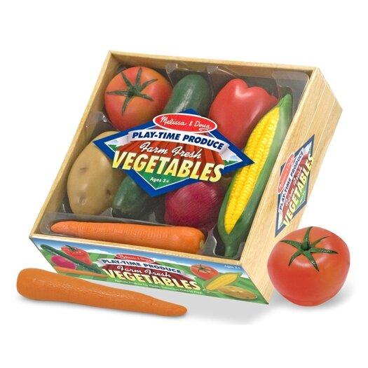Melissa and Doug 7 Piece Play-Time Veggies Set