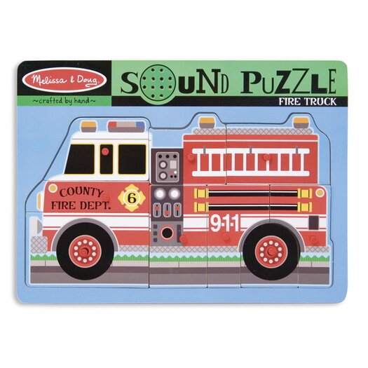 Melissa and Doug Fire Truck Sound Puzzle