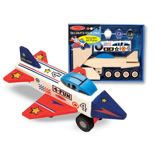 Melissa and Doug Wooden Jet Plane DYO