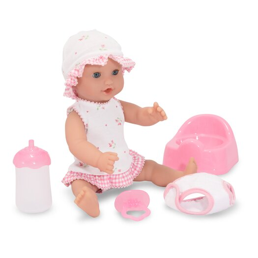 """Melissa and Doug Annie 12"""" Drink and Wet Doll"""