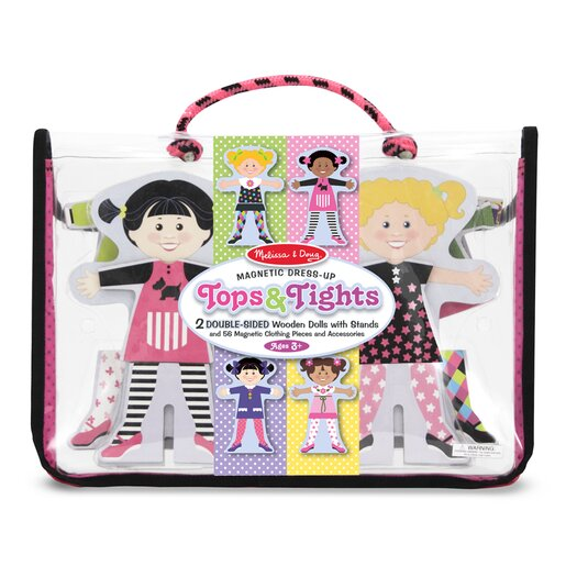 Melissa and Doug Tops and Tights Magnetic Dress-Up
