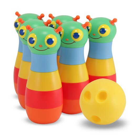 Melissa and Doug Happy Giddy 6 Piece Bowling Set