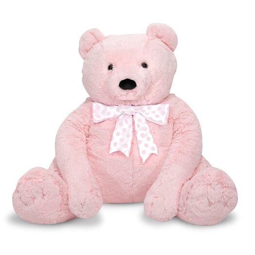 Melissa and Doug Jumbo Pink Teddy Bear