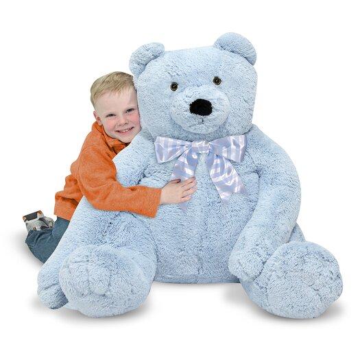 Melissa and Doug Jumbo Blue Teddy Bear