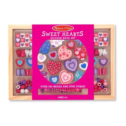 Melissa and Doug Sweet Hearts Bead Set
