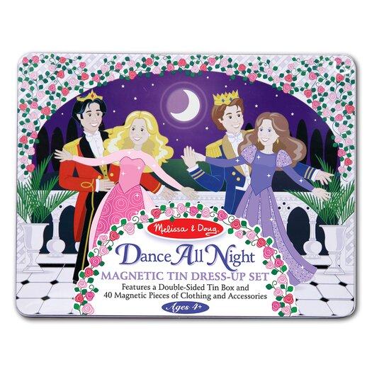 Melissa and Doug Dance All Night Magnetic Tin Dress-Up Set