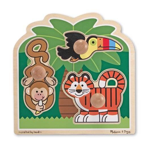 Melissa and Doug Rainforest Friends - Jumbo Knob