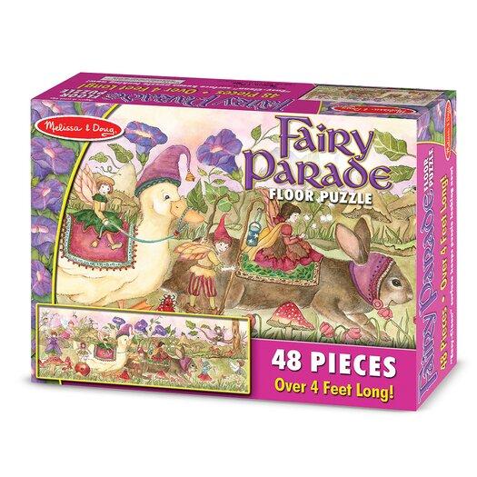 Melissa and Doug Fairy Parade 48 Piece Floor Puzzle Set
