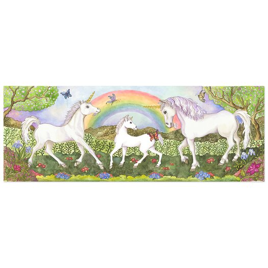Melissa and Doug Unicorn Glade 48 Piece Floor Puzzle Set