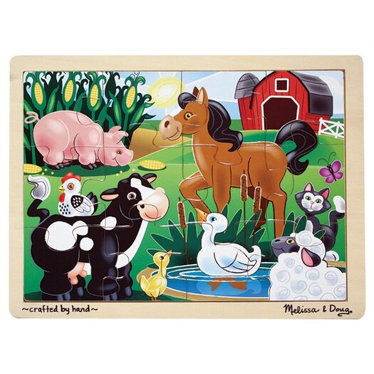Melissa and Doug On The Farm Wooden Jigsaw Puzzle
