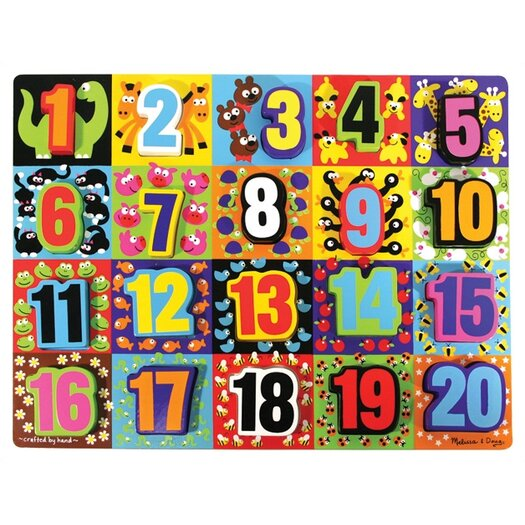 Melissa and Doug Jumbo Numbers Chunky Wooden Puzzle