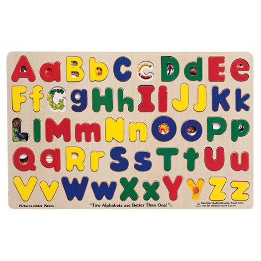 Melissa and Doug Upper and Lower Case Alphabet Puzzle