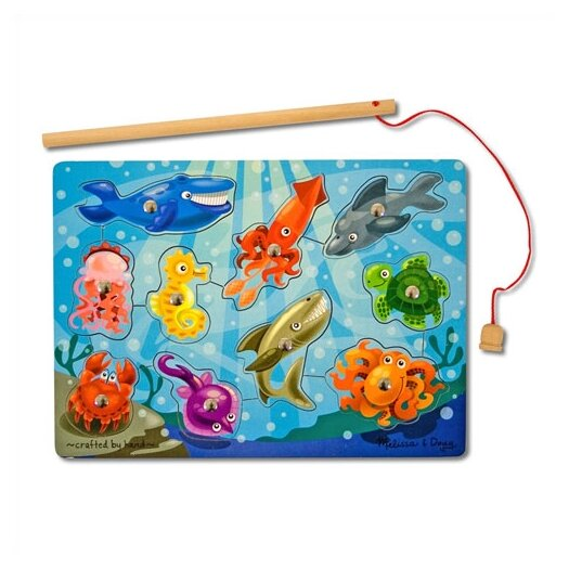 Melissa and Doug Fishing Game Magnetic Puzzle