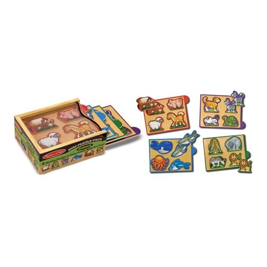 Melissa and Doug Animals Mini Puzzle Pack