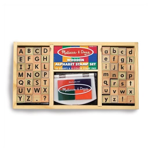 Melissa and Doug Alphabet Stamp Set Arts & Crafts Kit