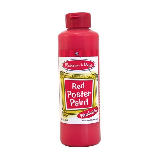 Melissa and Doug Red Poster Paint Bottle