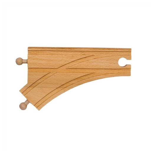 """Melissa and Doug 6"""" Curved Switch Track-Male"""