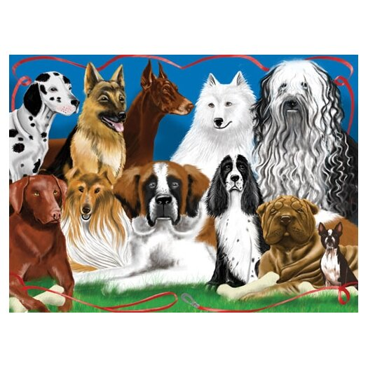Melissa and Doug Fetching Friends Cardboard Jigsaw Puzzle