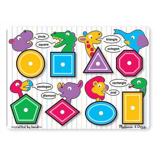 Melissa and Doug Shapes Peg Puzzle