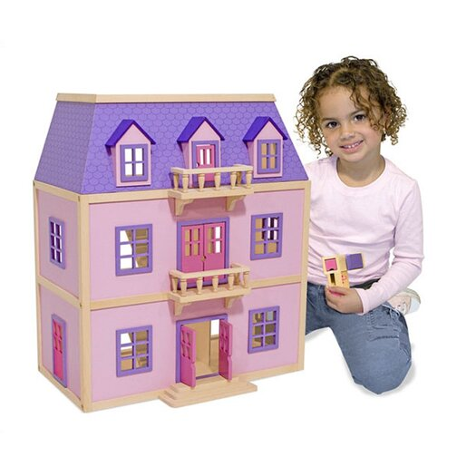 Melissa and Doug Wood Furnished Mansion