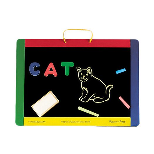 Melissa and Doug Magnetic Chalkboard/Dry Erase Board