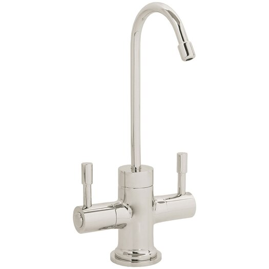 Westbrass Contemporary Two Handle Single Hole Hot and Cold Water Dispenser Faucet