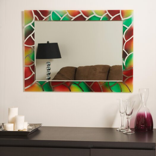 Decor Wonderland AbstrDCR1032act Frameless Wall Mirror