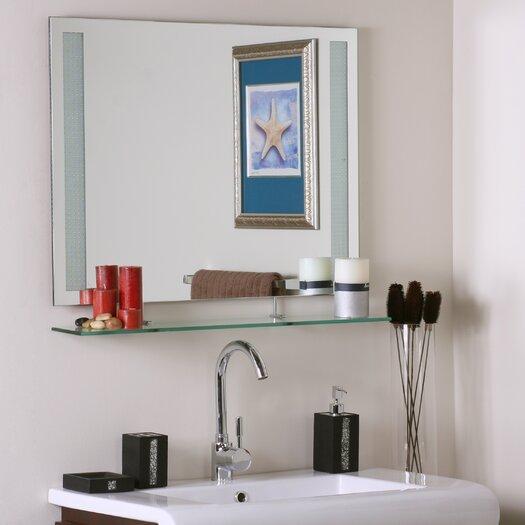 Decor Wonderland Frameless Roxi Mirror with shelf