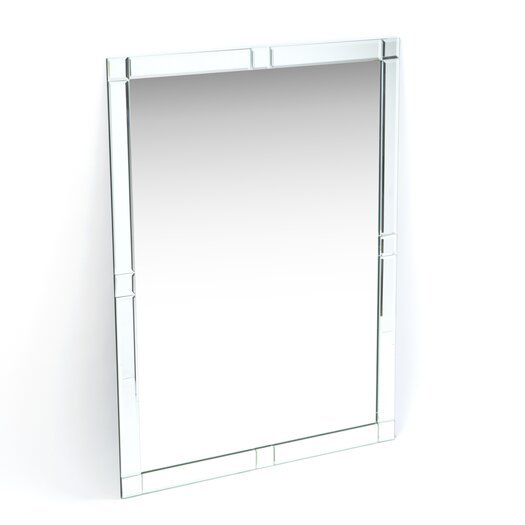 Decor Wonderland Frameless Zebra Wall Mirror