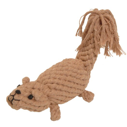 Jax & Bones Boomer the Squirrel Rope Dog Toy