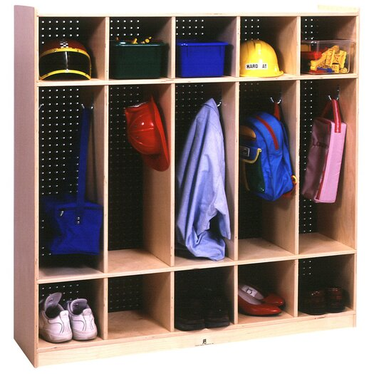 Steffy Wood Products Five Section Locker