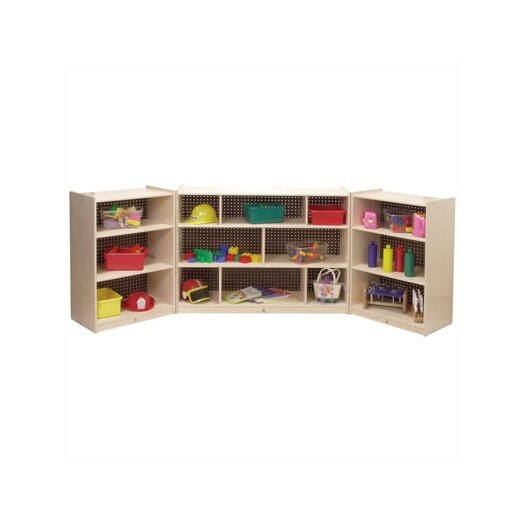 Steffy Wood Products Three-Shelf Mobile Storage Unit