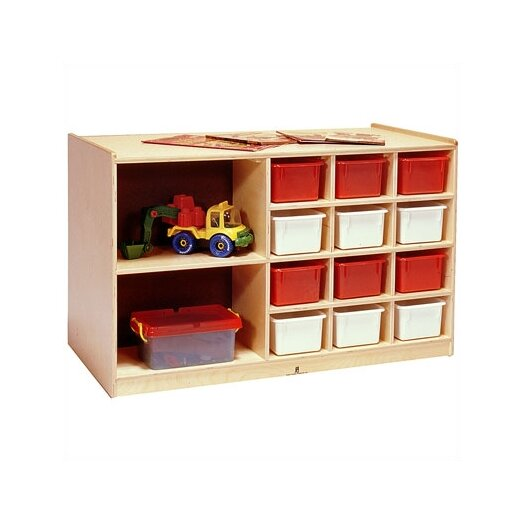 Steffy Wood Products Double-Sided 14 Compartment Cubby