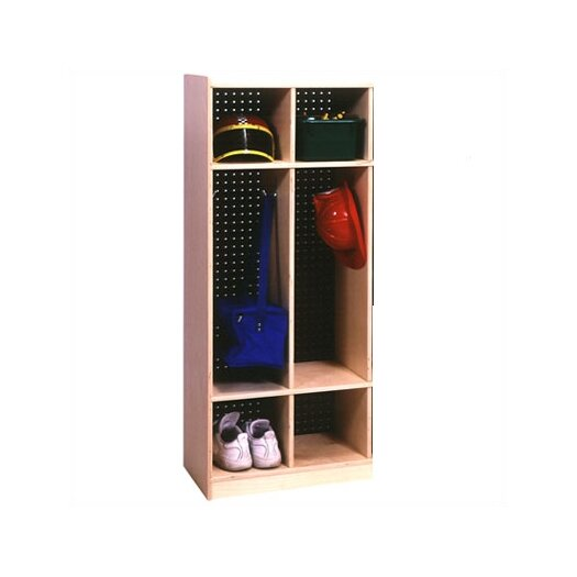 Steffy Wood Products 2-Section Locker