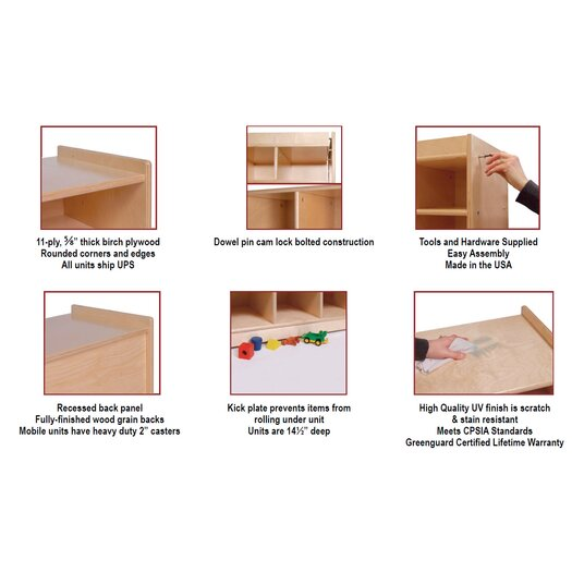 Steffy Wood Products 10 Section Wall Locker